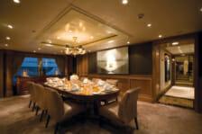 Motor yacht Utopia- interior dining- mediterranean
