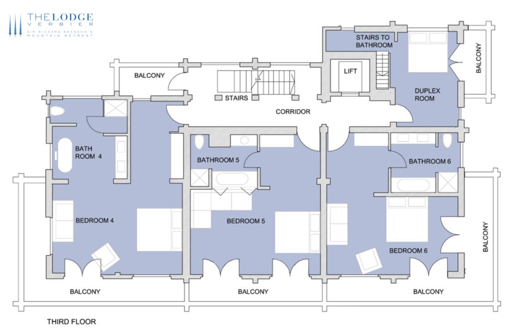 Lodge floor plans Verbier