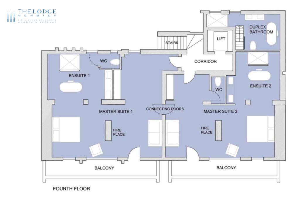 The Lodge Verbier Floor plans
