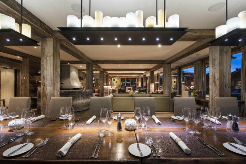 The Verbier Lodge - dining room- Verbier, Switzerland