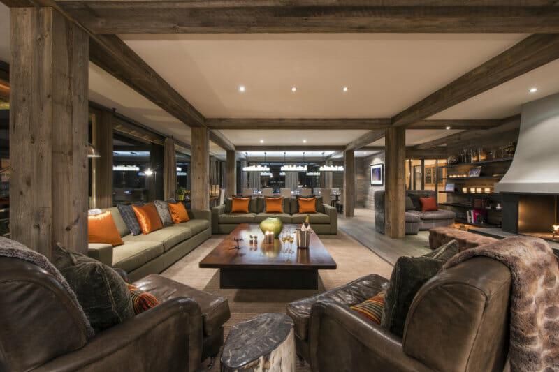 The Verbier Lodge- Sir Richard Branson- living areas- Verbier Switzerland