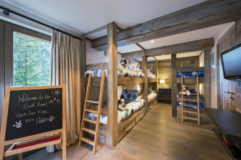 The Verbier Lodge bunk room