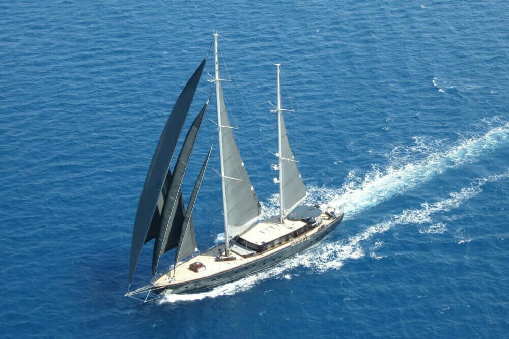 Motor Yacht Rox Star- running, underway- Mediterranean