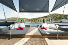 Sailing yacht Rox Star- outdoor sunbathing and relaxation- Mediterranean
