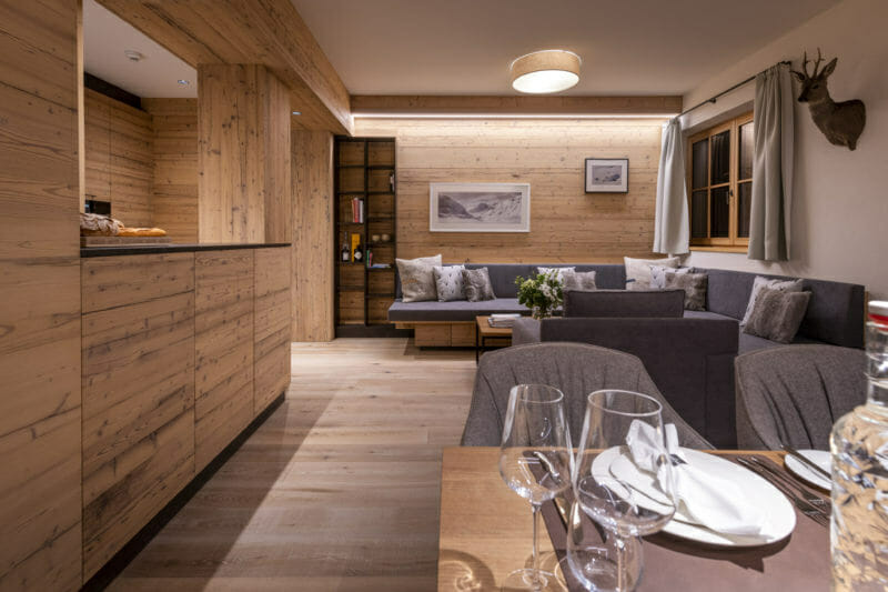 Apartment 1 Brunnenhof- living area-Lech